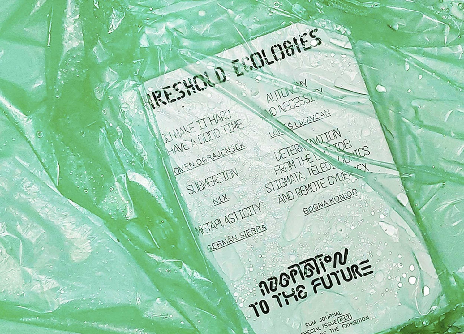 Šum journal n.12, Threshold Ecologies, 2019