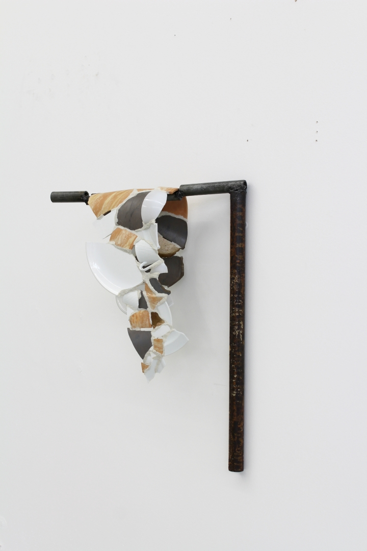 PASTS PUT AWAY, 2017, ceramic, steel, grout, clay, glue
