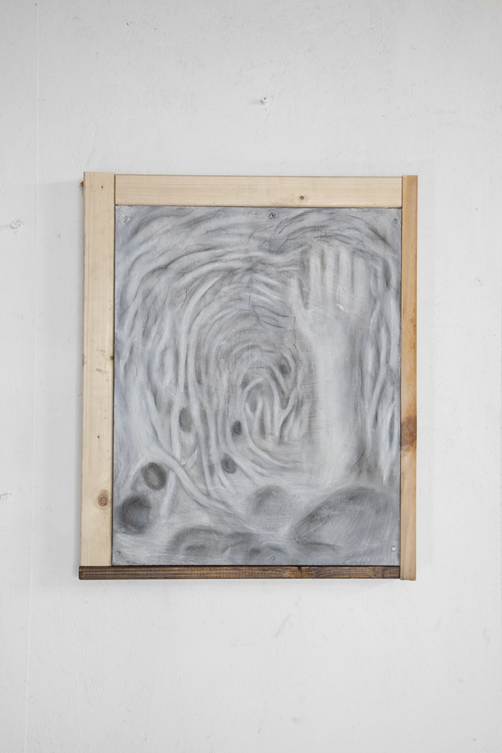 Sans titre, pastel on wood, (40x60 cm) (2018)