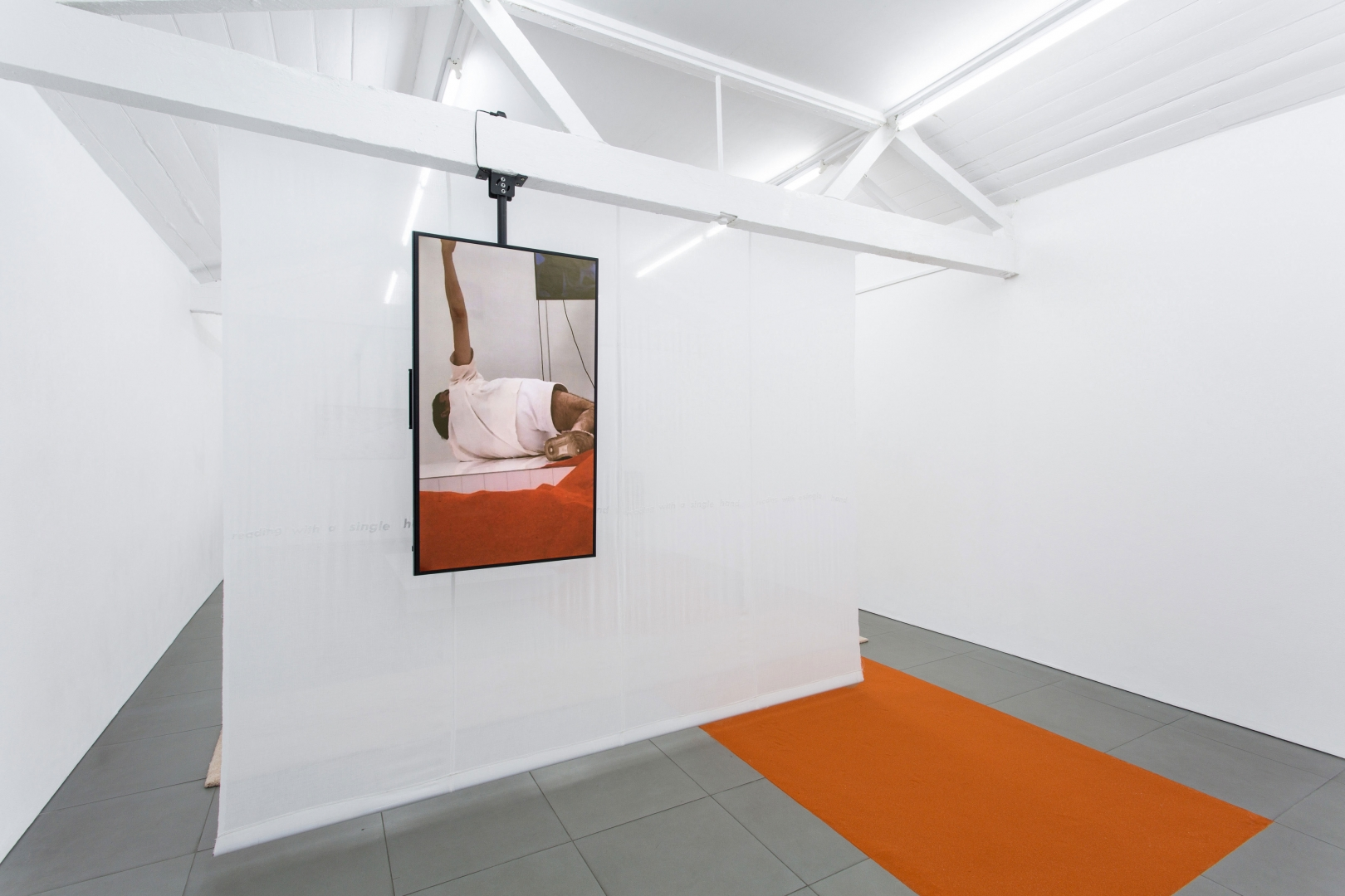 YGRG 14X: reading with a single hand V and YGRG Outlet,  solo exhibition at Cell Project Space, London, 2018.